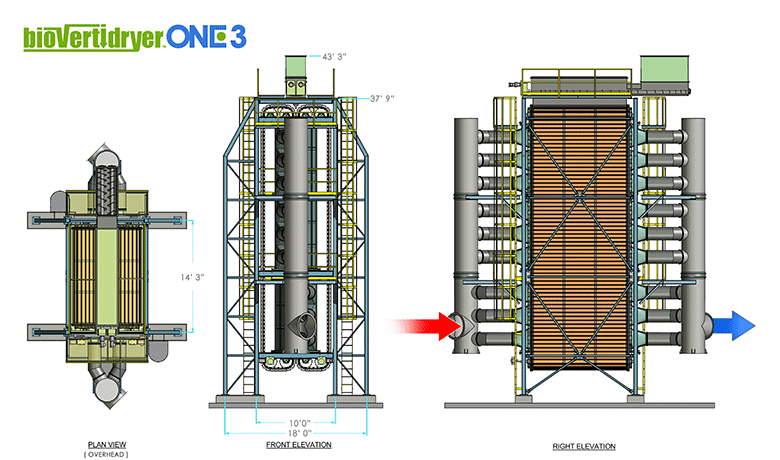 Altentech Biomass Dryer schematic